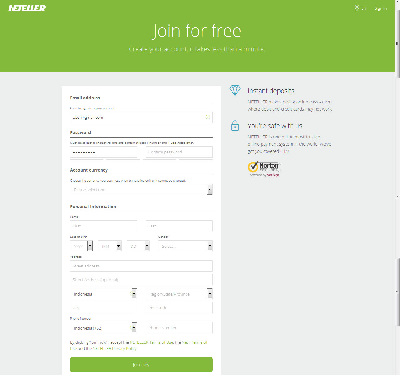 neteller-sign-up-form